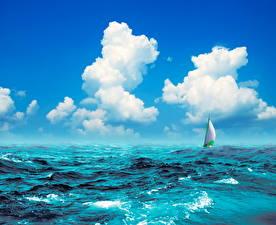 Fotos Sea Raum Meer Himmel Wolke Natur