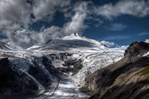 Fotos & Bilder Gebirge Himmel Österreich Schnee Wolke Alpen Natur