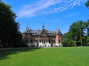 Bilder Burg Schweden Gras Rasen Sofiero Städte