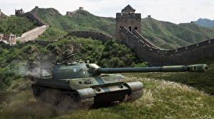 Fotos & Bilder World of Tanks Panzer Chinesische Mauer Gras Spiele 3D-Grafik Natur fotos