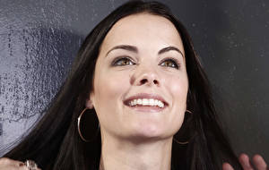 Pictures Jaimie Alexander Eyes Glance Smile Face Earrings Hair Teeth Brunette girl Celebrities Girls