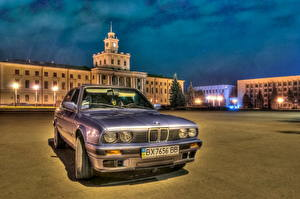 Image BMW Headlights Front HDR Night automobile Cities