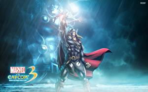 Hintergrundbilder Marvel vs Capcom Krieger Comic-Helden Mann Thor Held Spiele Fantasy