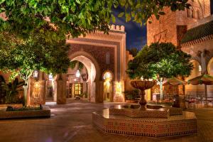 Fotos Vereinigte Staaten Springbrunnen Disneyland Straße Gehweg Kalifornien Anaheim