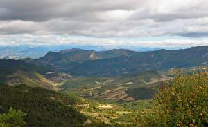 Bilder Gebirge Frankreich Landschaftsmalerei Himmel Von oben Wolke Alpen  Natur