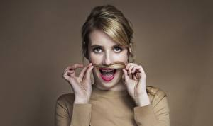 Hintergrundbilder Emma Roberts Blick Gesicht Haar Dunkelbraun Prominente Mädchens