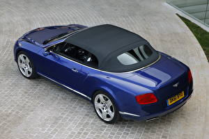 Images Bentley Blue 2012 Continental GTC W12 Cars