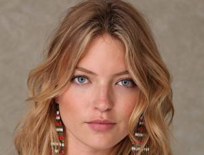 Wallpaper Martha hunt Eyes Glance Face Hair Blonde girl