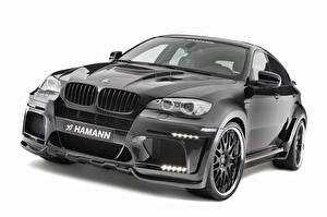 Bureaubladachtergronden BMW Hamann Koplampen Zwart kleur Vooraanzicht Metallic 2010 Tycoon Evo M X6 M auto's