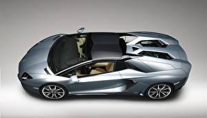 Bilder Lamborghini Seitlich Metallisch Luxus Roadster 2012 Aventador LP700-4 roadster Autos
