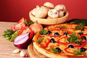 Bilder Stillleben Pizza Pilze Oliven Das Essen Lebensmittel