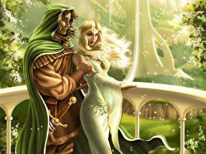 Fonds d'écran Amour Fantasy Filles
