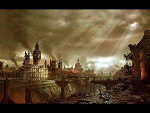 Bilder Hellgate: London England Ruinen London Spiele
