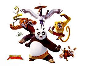 Hintergrundbilder Kung Fu Panda Weißer hintergrund Animationsfilm